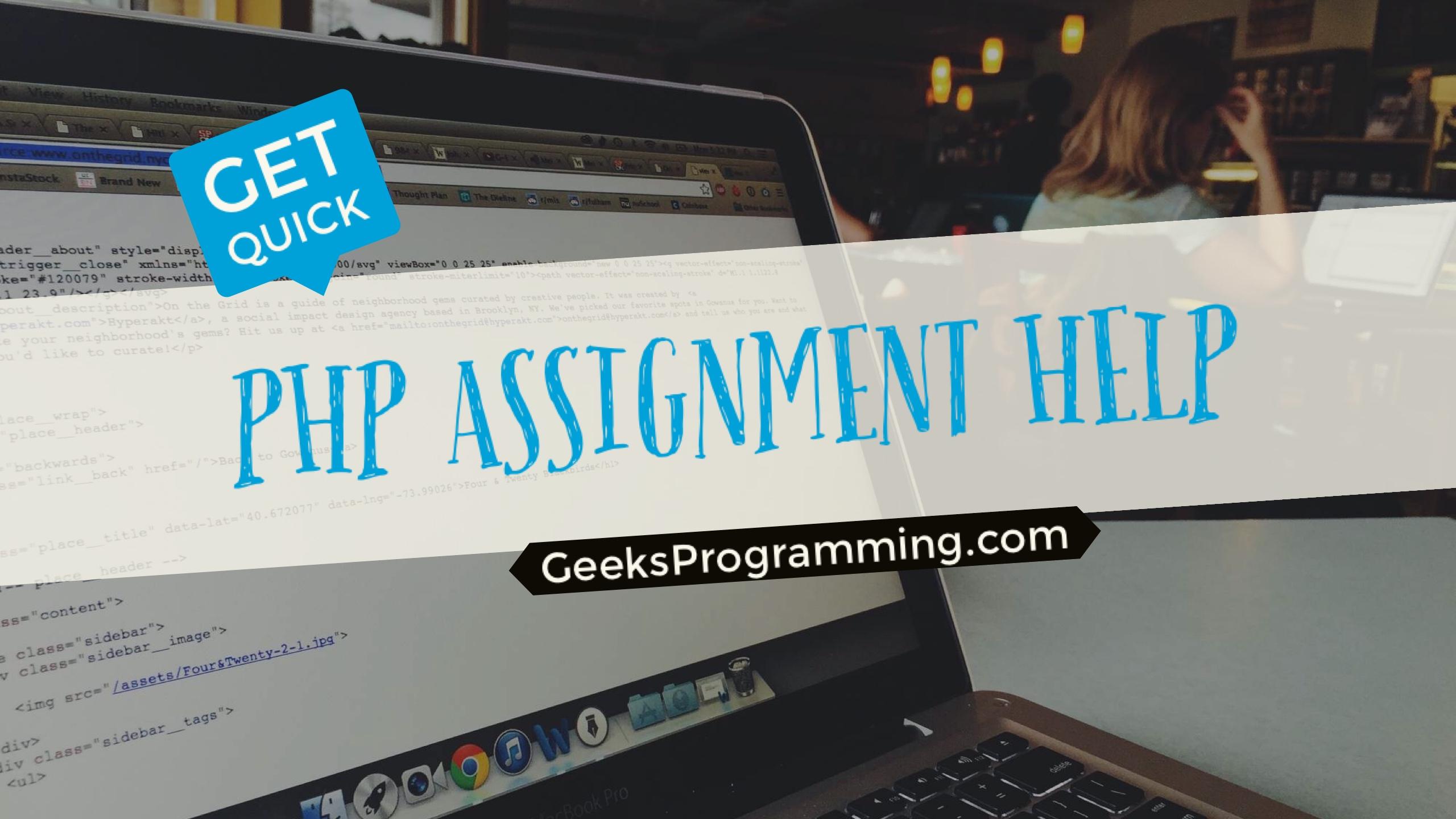 Programming Assignment Help  Homework Help   GeeksProgramming