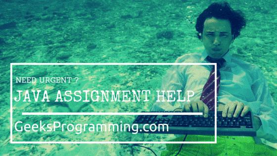 Java Assignment Help, Homework Help